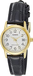 Casio Womens Quartz Watch, Analog Display and Leather Strap - LTP-V002GL-7B2UDF