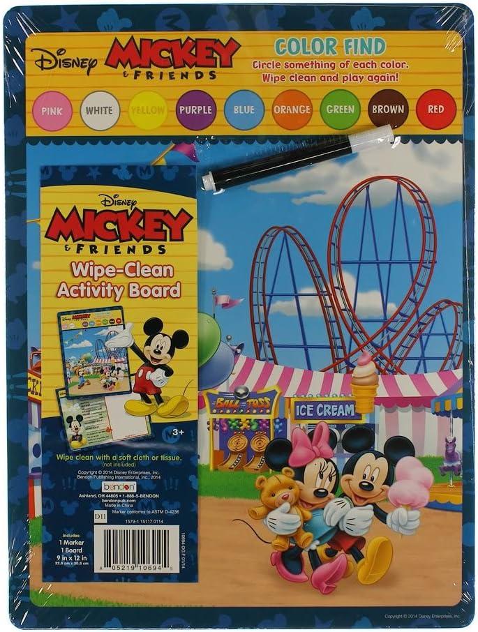 Regular discount Disney Mickey Friends Color 100% quality warranty! Find Clean Wipe Activity Board