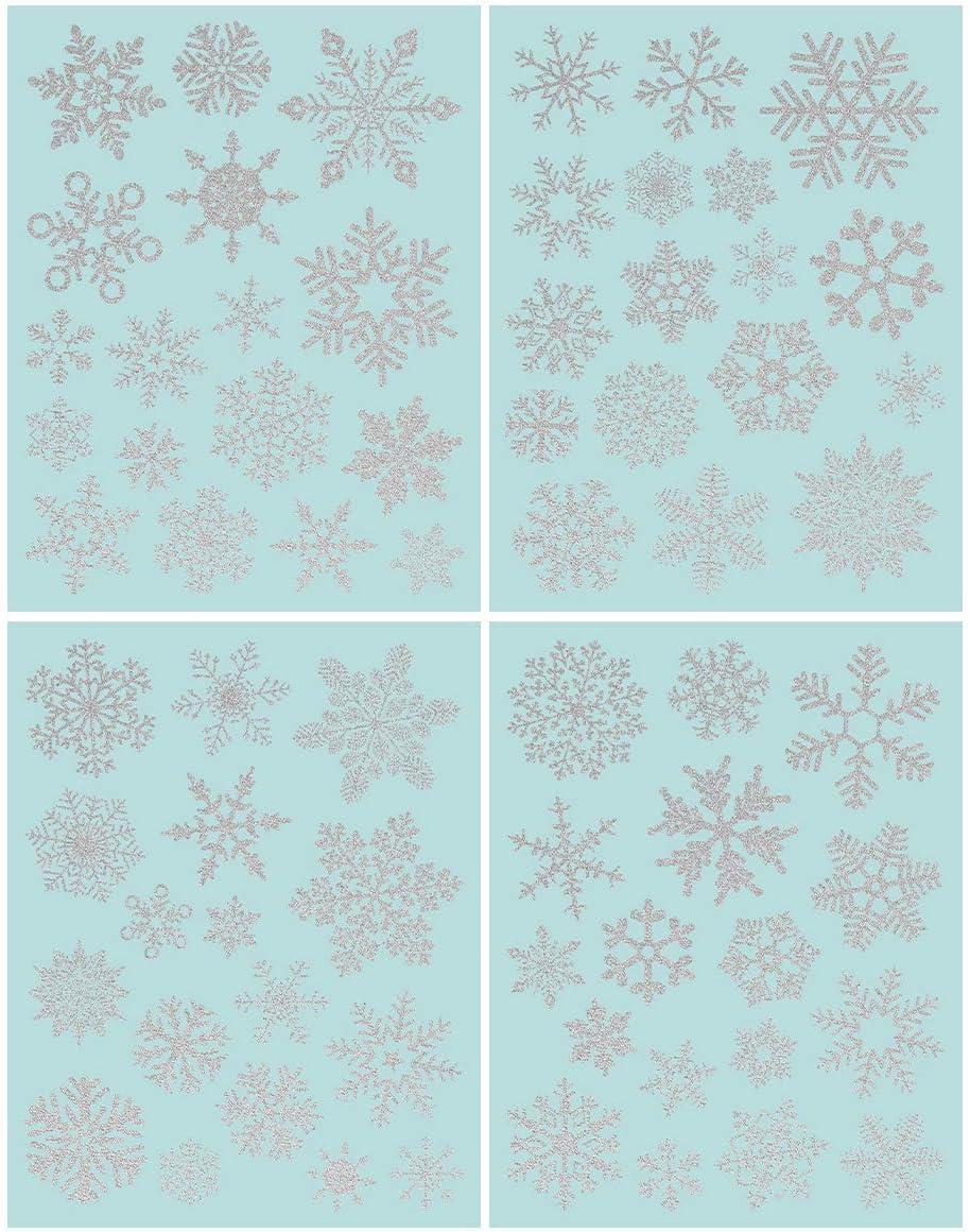 NICEXMAS 68 Glitter Snowflake Ranking TOP12 Christmas Dec Window Special sale item Clings