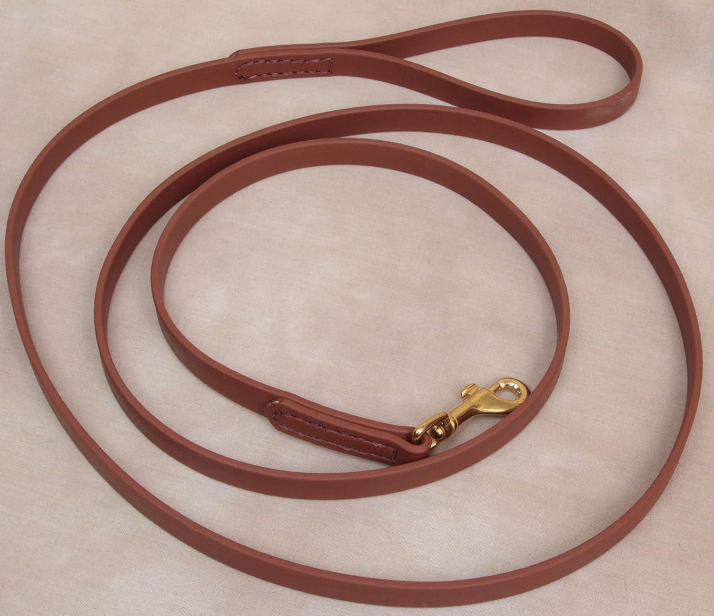 6' Long 5 8  Saddle Brown Beta Biothane Dog Leash