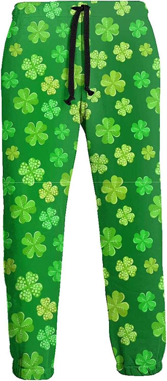 CAIJI Mens Sweatpants Lounge Pants outlet Green New Free Shipping Dark Shamrock On St of