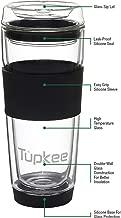 glass coffee mug with lid