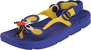 Yellow Bee Rat Thong Slippers for Boys, Blue