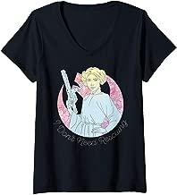 Womens Star Wars Princess Leia I don't Need Rescuing V-Neck T-Shirt