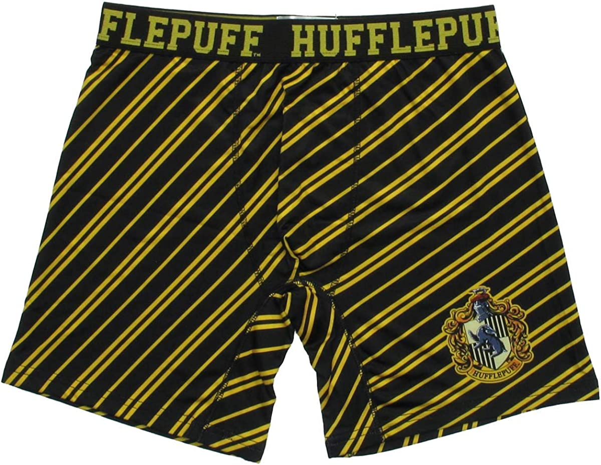 Harry Potter Hufflepuff House Boxer Briefs with Striped Print
