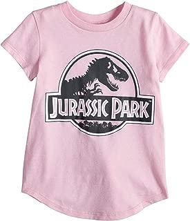 Jumping Beans Toddler Girls 2T-5T Jurassic Park Glittery Graphic Tee