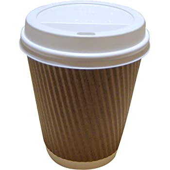 8 oz Round Black Paper Coffee Cup Double Wall 3 12