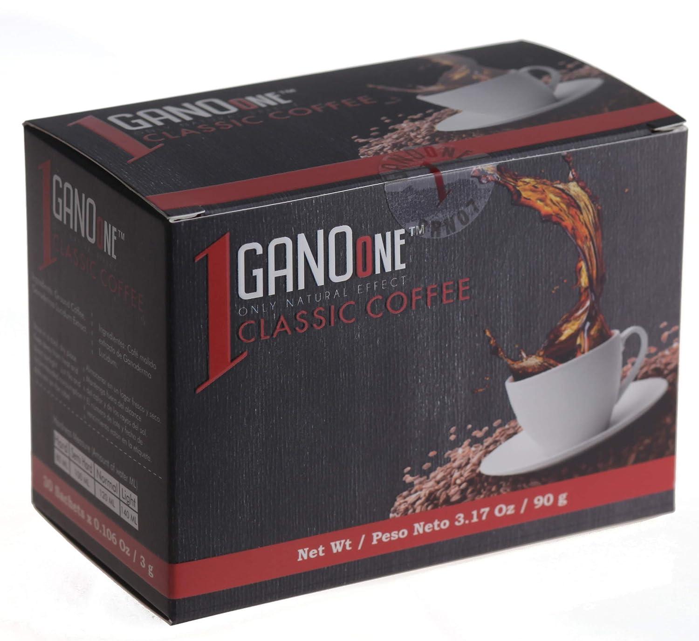GanoOne Instant Max 44% OFF Black Coffee with Ex Ganoderma Regular dealer Reishi Mushroom -
