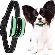 MASBRILL Small Dog Bark Collar, Harmless Stop Barking Device, Control Bark by Beep Sound and Vibration, No Shock. Best Anti-Bark Training Collar. (Green(5-55lbs))