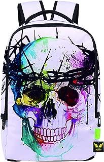 Pizoff Doulbe Mesh Padded Adjustable Shoulder Straps Cute Colorful Skull Print Zipper Rucksack Travel Backpacks Y1799-49