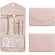 BAGSMART Travel Jewelry Organizer Roll Foldable Jewelry Case for Journey-Rings, Necklaces,...