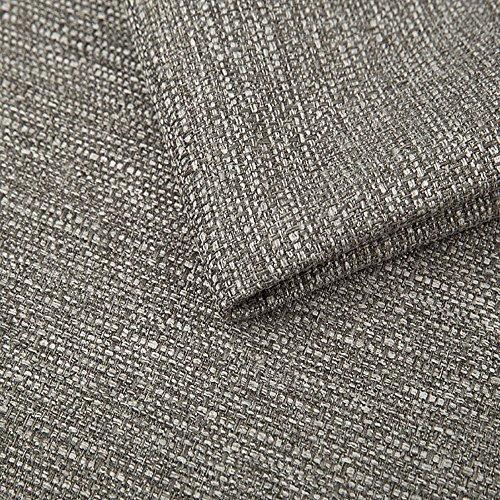 Pure Textilien Webstoff Strukturstoff Portland - Möbelstoff Polsterstoff Uni Meterware - grau 91