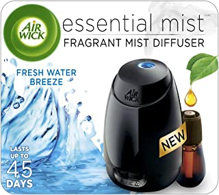 Air Wick Essential Mist, Essential Oil Diffuser, (Diffuser + 1 Refill), Fresh Water Breeze, Air Freshener