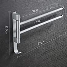 Ponsvrije ruimte aluminium handdoekrek, draaibare badkamer met meerdere staven, handdoekhouder, rek, handdoekrek, Helder z...