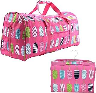 Printed Duffel & Cosmetic Bag Set- Pink Popsicles