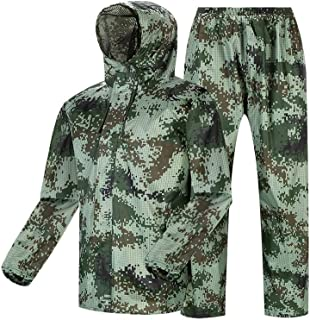 JTWJ Outdoor Raincoat - Raincoat Rain Pants Set Camouflage Outdoor Waterproof Split Raincoat for Rainy Day Out/Cycling/Camping/Hiking, Etc. (Size : XL)