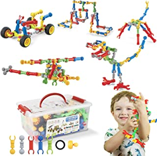 STEM Toys Kids Building Kit, 125 Pcs Educational Learning Set Construction Engineering Building Blocks for Ages 3 4 5 6 7 ...