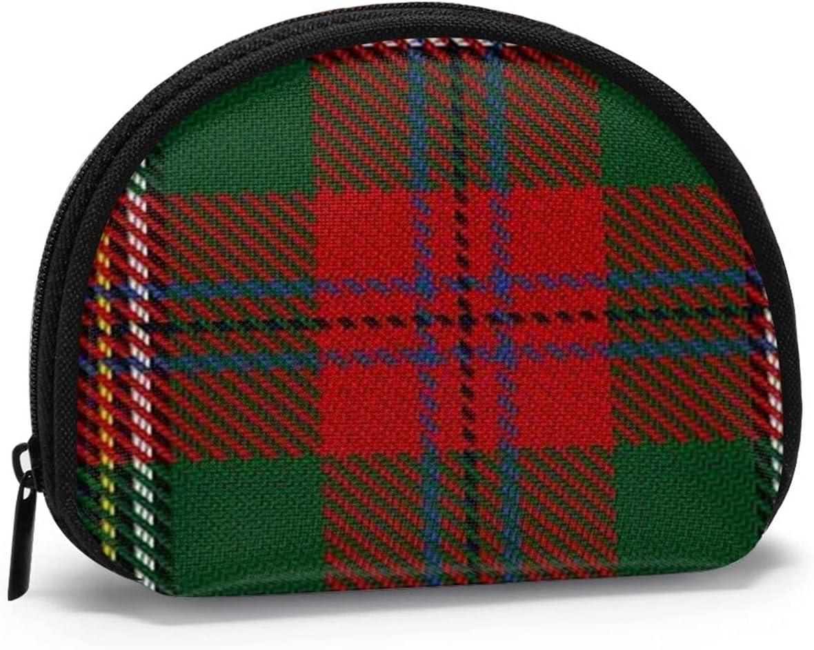 small zipper Coin Purses Vintage zipper Pouch Change Purse Wallets Scottish Clan Maclean Tartan