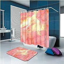 Epinki Polyester Washable Bathroom Curtain Set Pink Fantasy Shower Curtain with 12 Hooks Size 165x200CM Bathroom Curtain Bath