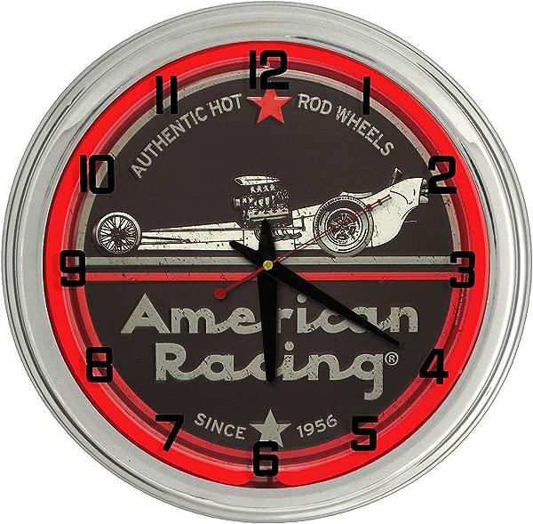 Drag Racing Red Neon Clock From Redeye Laserworks
