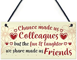 Meijiafei Chance Made Us Colleagues Hanging Work Friend Plaque Thank You Leaving Job Retirement Gift 10