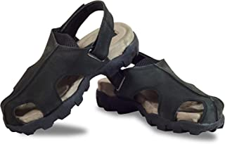 RIGAU Men's Leather Outdoor Sandals