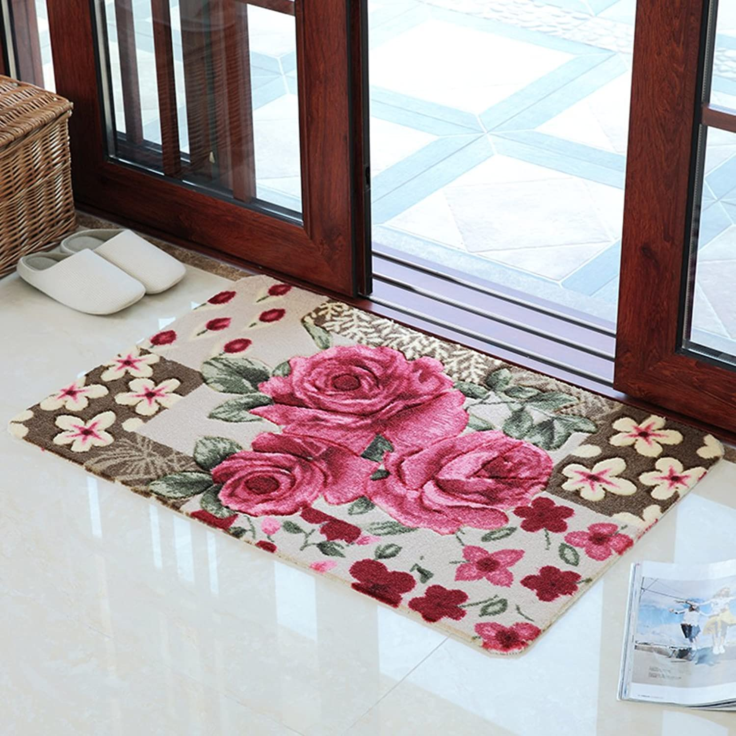 Indoor Mats Doormat Door,The Hall Mat Bedroom,Kitchen Floor Mats Bathroom,Water Absorption and Anti-skidding Mat-C 120x170cm(47x67inch)