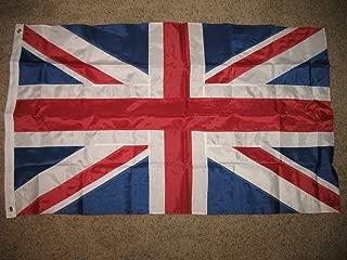 3'x5' BRITISH NYLON EMBROIDERED SEWN FLAG OUTDOOR UK UNION JACK HUGE 3X5 NEW