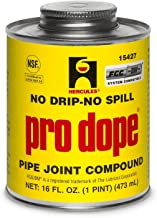 Best Oatey 15427 Hercules Pro Dope 1 Pint Thread Sealant Screw Cap with Brush Review