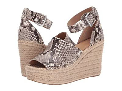 Marc Fisher LTD Adalyn Espadrille Wedge (Light Gray Leather) Women