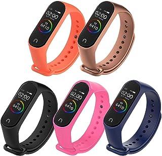 Ventdest Correa Compatible con Xiaomi Mi Band 4 Xiaomi Mi Band 3, 5 Piezas Pulseras Reloj Recambio Silicona Suave para Xia...