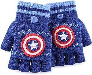 Caihuahua Gants d'automne et d'hiver pour garçon - Demi-doigts chauds à cinq doigts - Spiderman Winter Baby Elementary Sch...