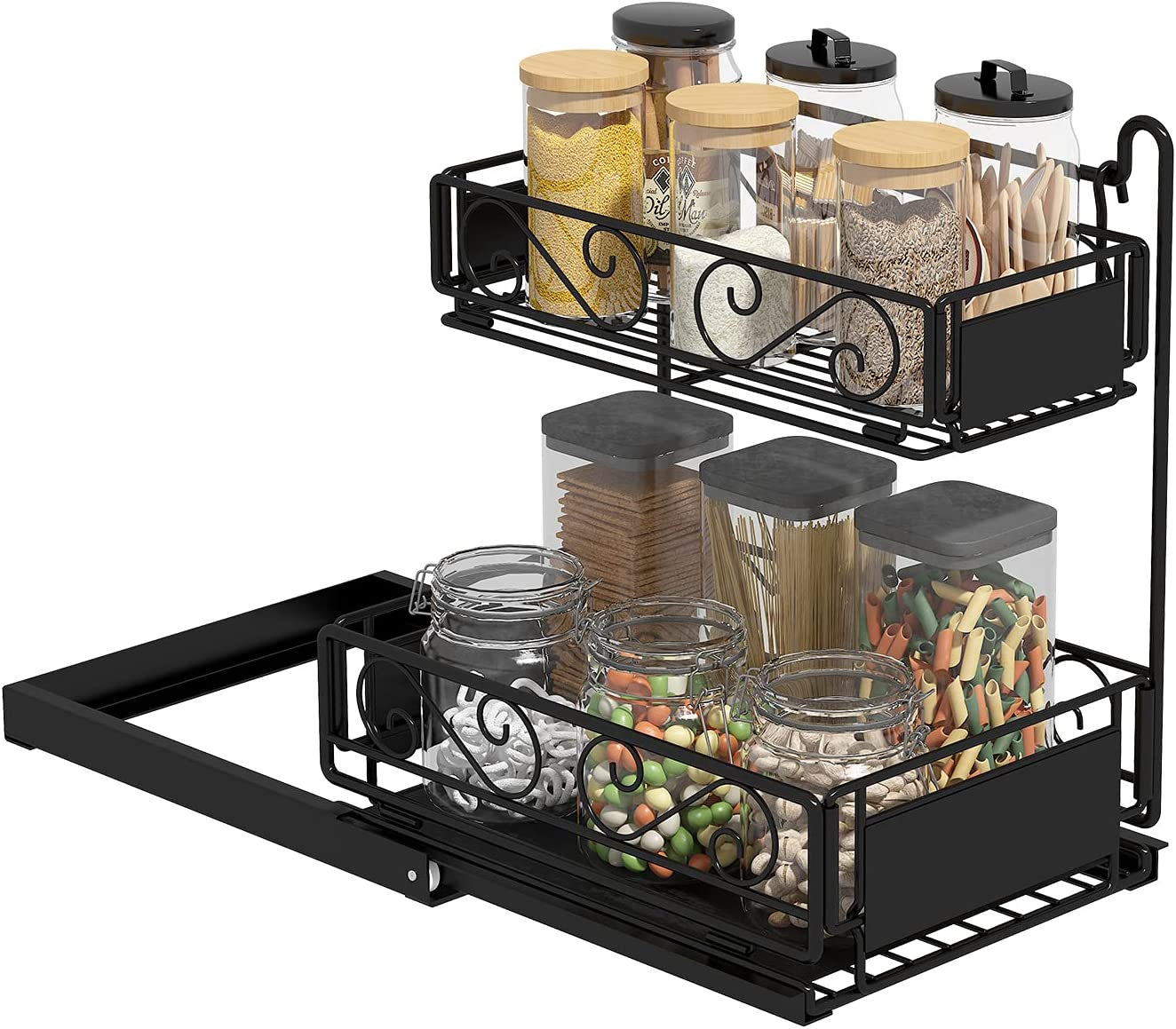 Purchase Apsan Pull Out Cabinet Organizer Tier Drawers Shelv 2 Slide Now free shipping
