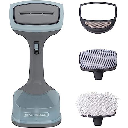 BLACK+DECKER Advanced Handheld Garment / Fabric Steamer with 3 Attachments, Gray/Blue, HGS200