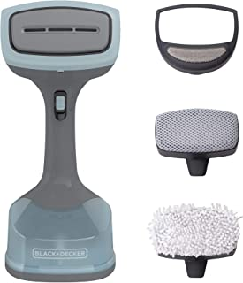 BLACK+DECKER 1400W Advanced Handheld Steamer, 3 Attachments, Gray/Blue, HGS200