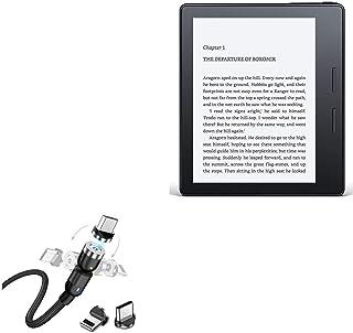 Cabo Amazon Kindle Oasis, BoxWave [MagnetoSnap AllCharge] Cabo de carregamento magnético USB tipo-C Micro USB para Amazon ...