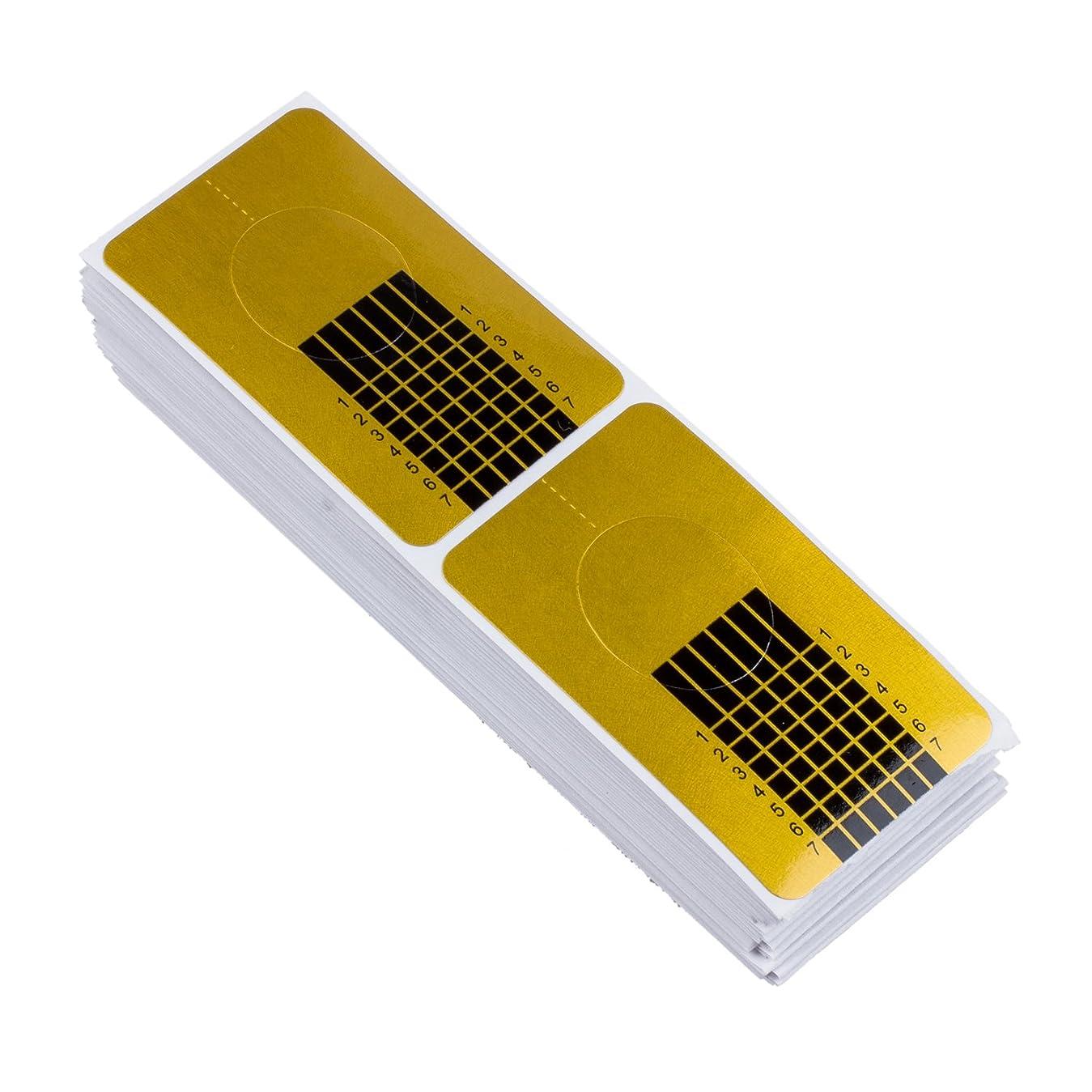 呼吸する交流する故障SODIAL 100x ゴールデンのネイルのカバー、DIYツール