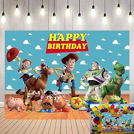 MIVENCHY Photo Backdrop Birthday Party Background Photography Studio Vinyl Cartoon Buggy Props Cartoon Cute Happy Birthday Theme Backdrop for Photography Under The Sea Birthday