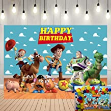 Zhy Cartoon Movies Poster Backdrop 7X5FT New Vinyl Scarecrow Balloon Photography Background Party Banner Photo Shooting Props 349