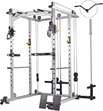 Mikolo Multi-Function Power Cage, 1200 lbs Commercial Weight Cage with Cable Crossover..