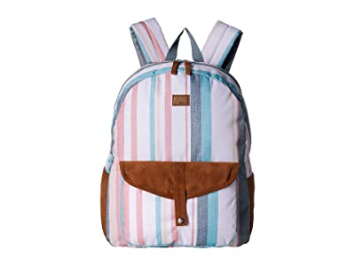 Roxy Carribean Backpack (Snow White Retro Vertical) Backpack Bags