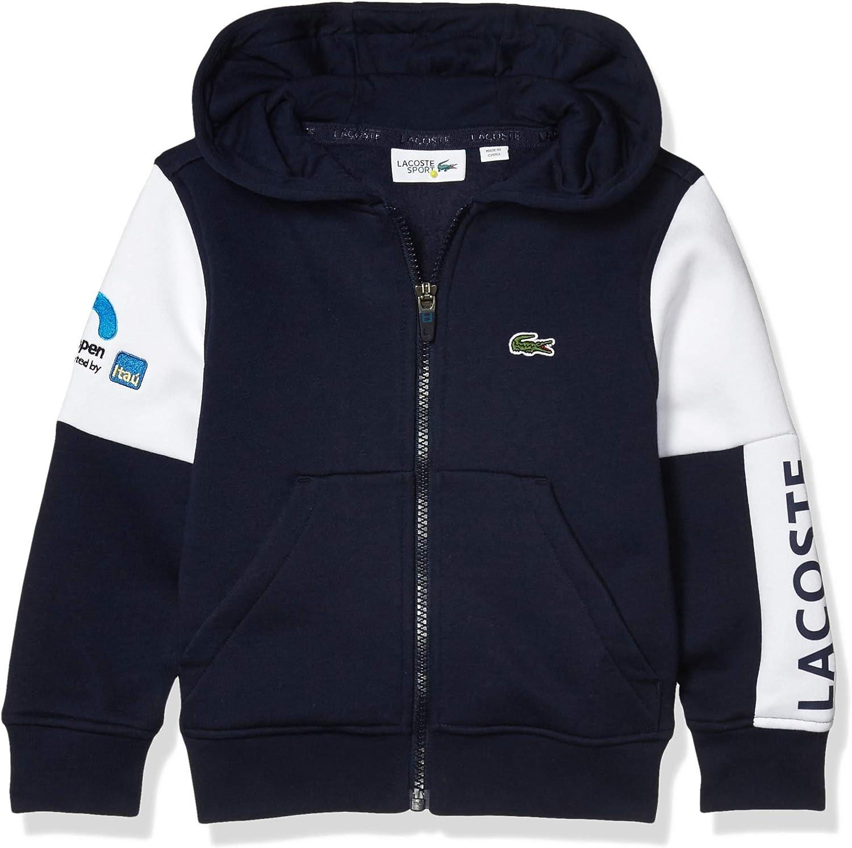 Lacoste Boys' Sport Miami Open Full Zip Hooded Sweatshirt