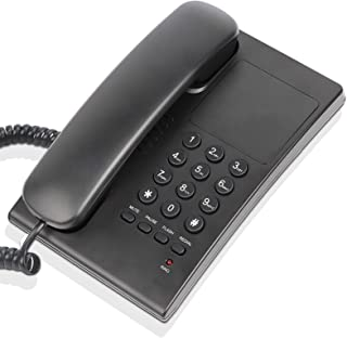 Landline Telephone for Home, No Need Battery, Wall-Mountable, One Key Redial, Flash, Mute, Easy to Operate, Space Saving, ...