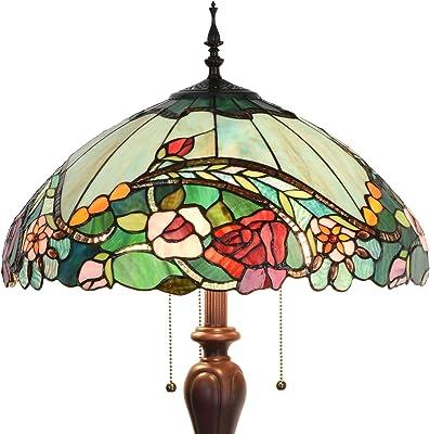 Bieye照明L10740 バラ 薔薇 フロアスタンドランプ ステンドグラスランプ 華やか インテリアライト雰囲気ランプ 飾りランプ フロアスタンド フロアライト フロアランプ 癒しグッズ ロマンチック