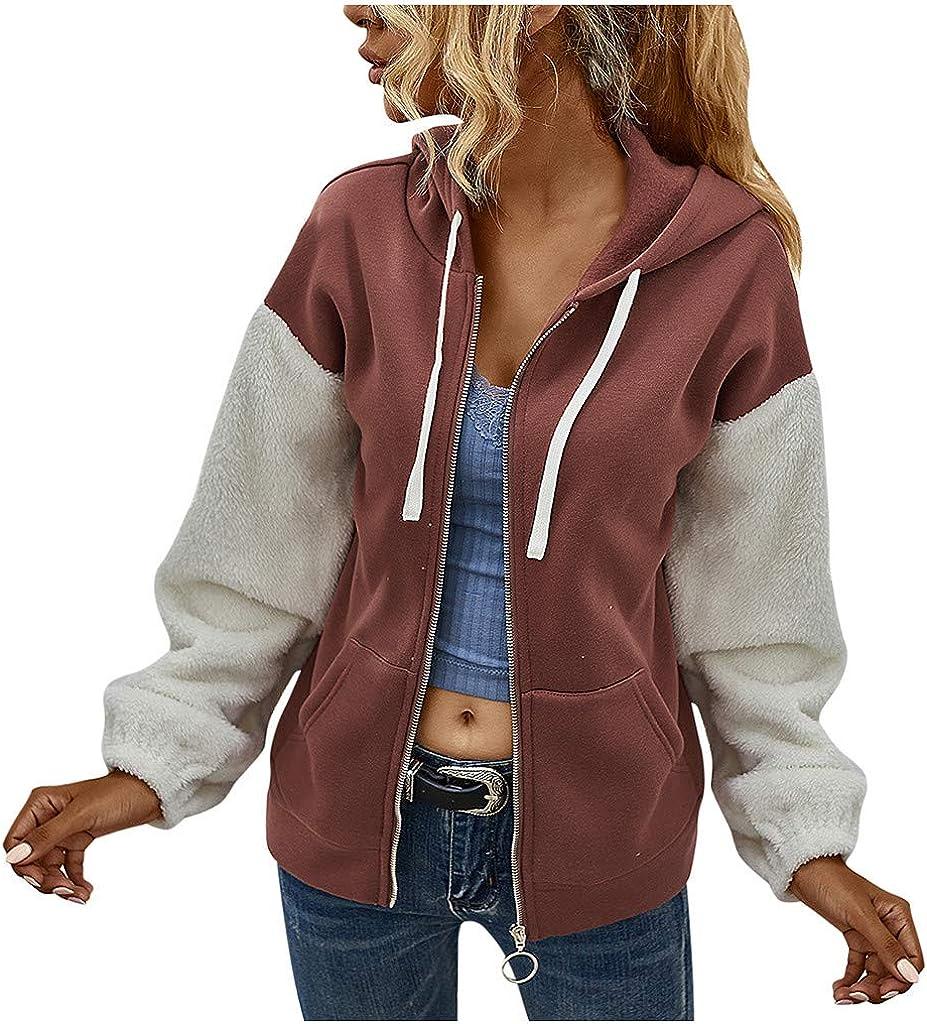 Women's Full Zip Hooded Cheap Sweatshirt Up Hoo Casual Long OFFer Sleeve