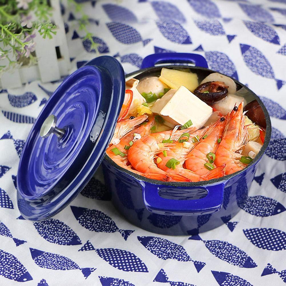 starter Hornos - Cacerolas Holandeses Horno Fundido Esmaltado Hornos Holandeses Olla Pequeña Cocina Térmica: Amazon.es: Hogar