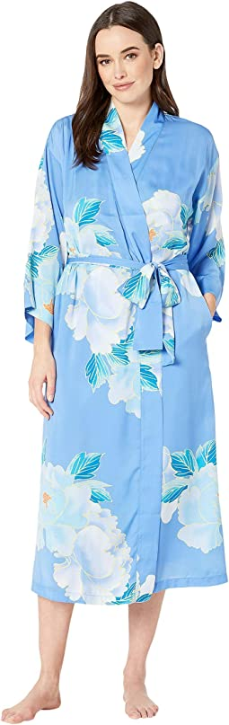Printed Silky Satin Robe