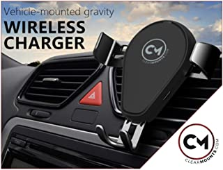 CLEARMOUNTS Universal Qi Wireless Charger Gravity Cradle Holder