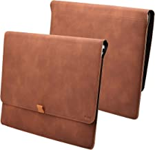 Valkit Macbook Air 13 inch Sleeve, Macbook Pro 13 inch Retina, iPad Pro 12.9 Sleeve, Top PU Leather Cover Case Laptop Carrying Bag For Macbook Air 13 / Pro 13 Retina (A1369 A1466 A1425 A1502), Brown