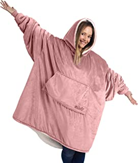THE COMFY: Original Blanket Sweatshirt, Seen on Shark Tank, Invented by 2 Brothers, Warm, Soft, Cozy, Multiple Colors, 1 Size Fits All, Women, Wife, Girls, Friends (Blush)